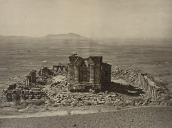 Kashmir. General view of Temple and Enclosure of Marttand or the Sun, near Bhawan. Probable date of temple A.D. 490-555. Probable date of colonnade A.D. 693-729